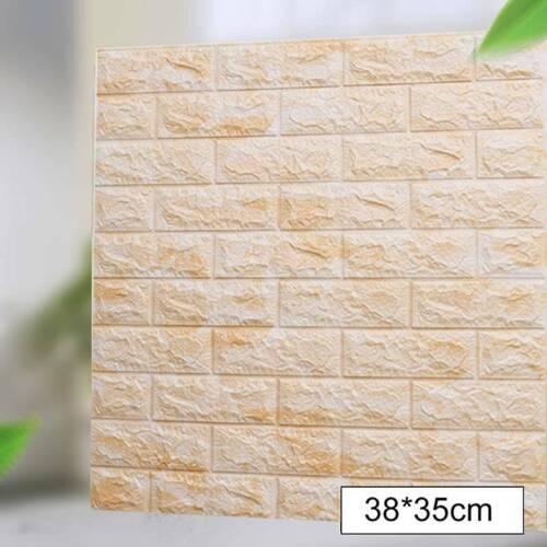 10pcs 3D Tile Brick Wall Sticker Self-adhesive Waterproof Foam Panel Wallpaper Y