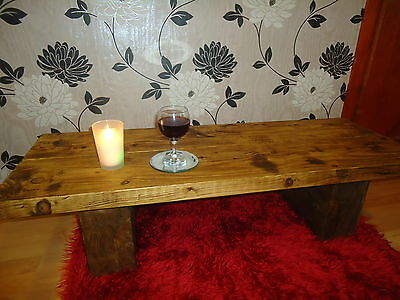 SOLID PINE WOOD COFFEE TABLE AND TV STAND