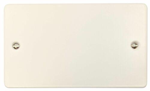 G/&h FW32 plat plaque blanc mat 2 Gang DOUBLE Blanc Plaque