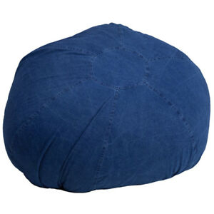 Admirable Details About Large Comfy Bean Bag Chair In Denim Cotton Fabric Oversized Bean Bag Alphanode Cool Chair Designs And Ideas Alphanodeonline
