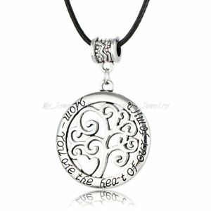 Mum-You-Are-The-Heart-Of-Our-Family-Necklace-Pendant-Mother-039-s-Day-Birthday-Gift