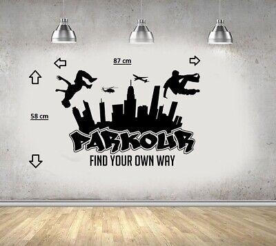 Parkour Gratuit Course Saut Urban Style Skate Graffiti Art Autocollant Mural