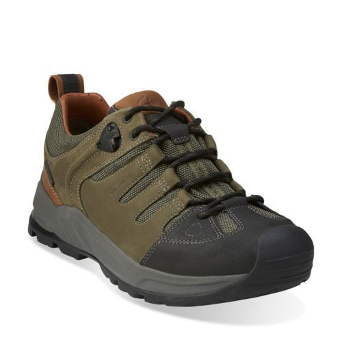 Clarks BNIB Mens Casual Sporty shoes OUTVENT LO Olive Nubuck UK 11   46