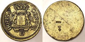 Offizielle Website Gewicht Münze Von 96 Livre Nach Art Double Von Genua L Contromarche #4093a