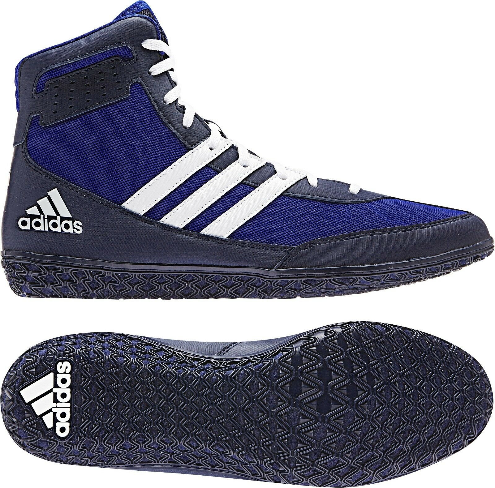 Adidas Mat Wizard.3 ADULT Men's Wrestling Shoes, Royal/Navy/White AQ6201 NEW!