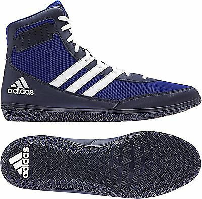 Adidas Mat Wizard 3 Adult Men S Wrestling Shoes Royal Navy White Aq6201 New Ebay