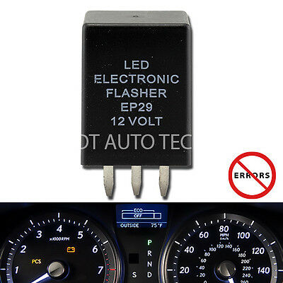 EP-29 LED Flasher Relay Fix Hyper Flash Turn Signal Decoder Load Equalizers