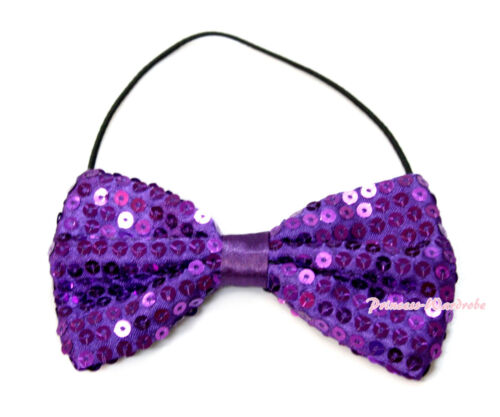 Variety Solid Color Sequins Sparkle Kid Boys Wedding Party Suit Bowtie Bow Tie