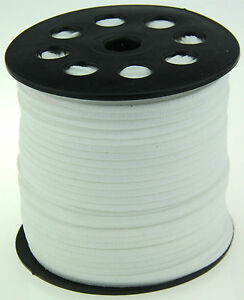 10ya 3mm white Suede Leather String Jewelry Making Thread Cords hot