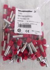 100 Weidmuller 9019250000 Wire End Ferrule H 1028d R Awg8