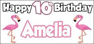 FLAMINGO-A-TEMA-personalizzato-Compleanno-Striscione-Festa-Decorazioni-X-2-nome-e-eta