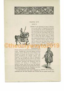 Henry-VI-amp-Humphrey-Duke-of-Gloucester-Book-Illustration-Print-c1870