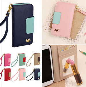 Bird-Leather-Wallet-Card-Pouch-Strap-Flip-Case-Cover-For-iPhone-6-6s-Plus