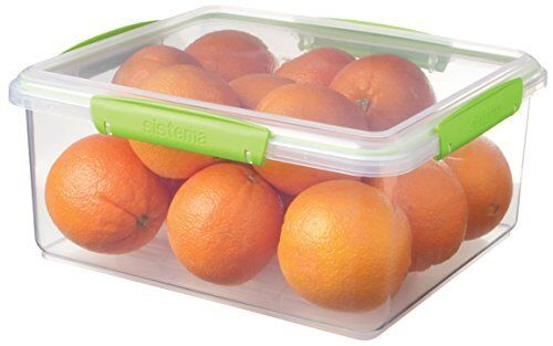 Assorted Colours Sistema KLIP IT Accents Food Storage Container 5 L