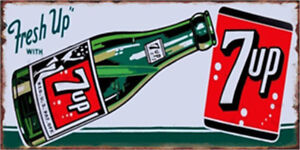 Metal Tin Sign fresh up 7up  Bar Pub Home Vintage Retro Poster Cafe ART
