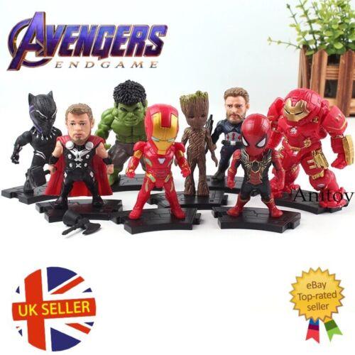 Marvel Avengers 8 Figure Set End Game Infinity War Spiderman Gauntlet UK Seller