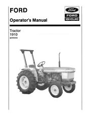 Ford Tractor 1910 Operator Lubrication Maintenance Instruction Manual
