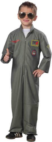 Pilote de chasse jetpilot Pilote Enfants Carnaval Costume 116-164