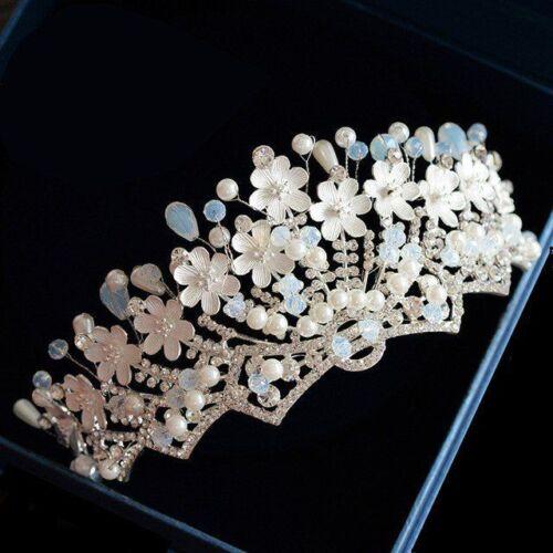 Crystal Tiara Rhinestone Queen Headband Wedding Bride Hair Crown Bridal Pageants