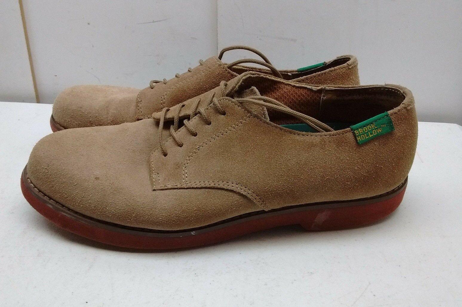 Brook hueco tan Cuero Oxford Plain Toe Con Cordones Casual Comfort Hombres Zapato 10.5M