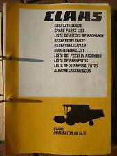Claas Mähdrescher Dominator 88 SL / S Ersatzteillkatalog