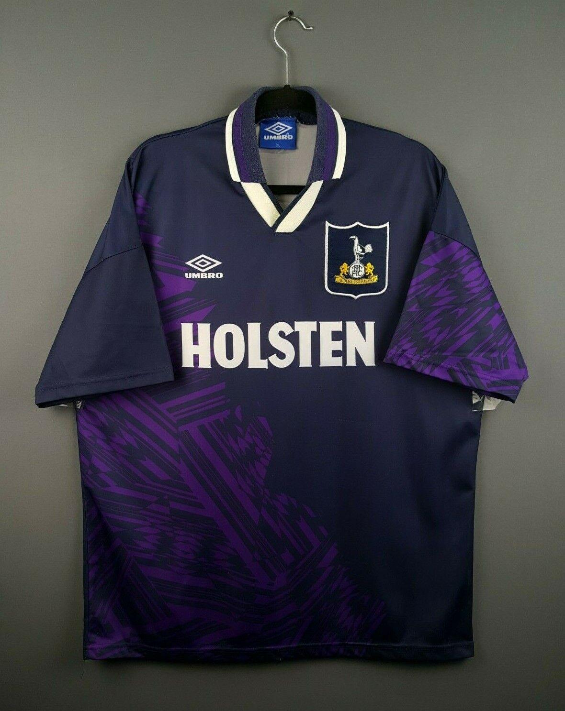 4.5 5 Tottenham Hotspur Jersey Camisa de fútbol visitante de 1995 XL 1994 ig93 Umbro