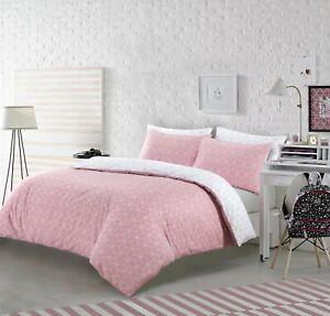 Nightcomfort-Pink-amp-White-GEOMETRIC-Design-Set-Copripiumino-con-federe