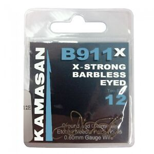 KAMASAN-B911-EYED-BARBLESS-XSTRONG-HOOKS-ALL-SIZES-AVAILABLE