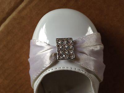 GIRLS KIDS WHITE PATENT FLOWER GIRL BRIDESMAID COMMUNION DRESS SHOES SANDALS 6-2