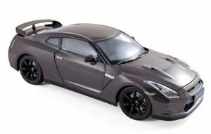 Norev-188053-Nissan-GT-R-R35-Cba-Diecast-Modelo-Coche-de-carretera-Metalico-Gris-2008-1-18