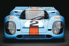 PORSCHE 917 K 1969 VINTAGE PORSCHE RACING CAR  LARGE PHOTOGRAPHY / POSTER