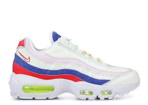 Details about Women's Nike Air Max 95 USA PANACHE CORDUROY SAIL PINK BLUE  RED WHITE AQ4138-101
