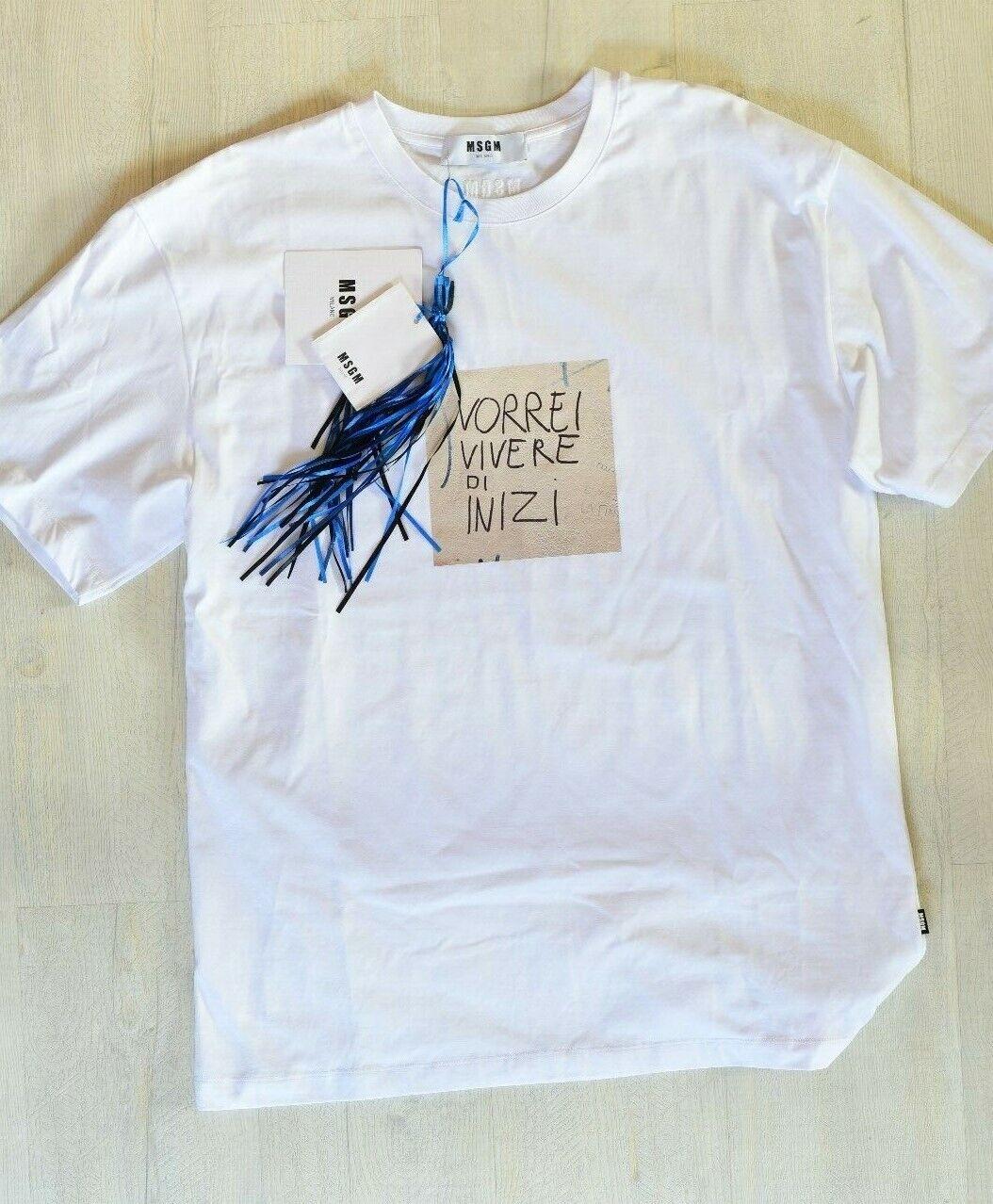 MSGM T-hemd, Brand New, Größe L OverGröße, 100% Authentic, Made in