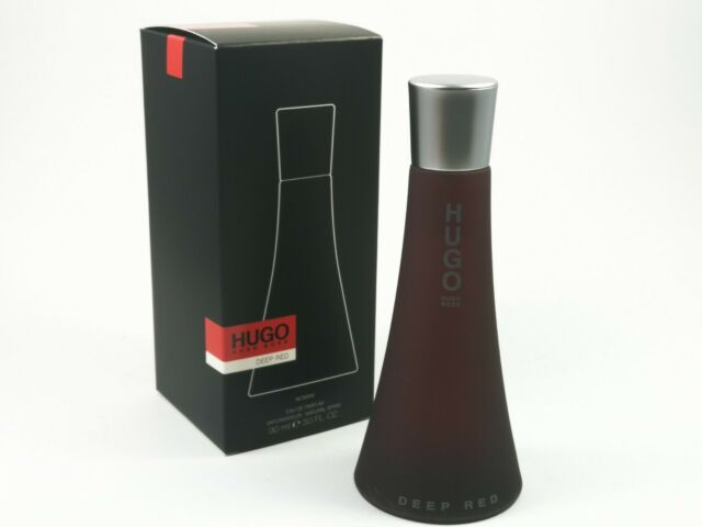 HUGO BOSS Deep Rojo Mujer 90ml Eau de Parfum Spray Nuevo / Emb.orig
