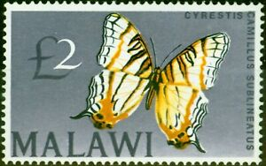 Malawi-1966-2-Butterfly-SG262-Very-Fine-MNH