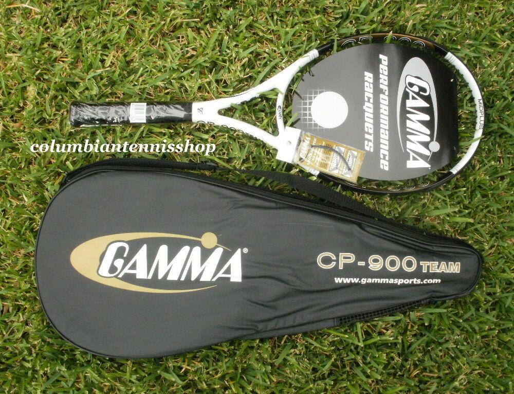 New Gamma CP-900 Team Tennis Racket 100 4 1 2  (L4) (4) orginal.MSRP  179  marca famosa