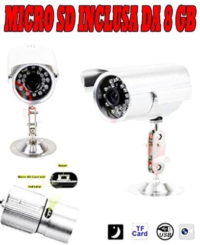 TELECAMERA 36 LED CON REGISTRAZIONE MICRO SD 8 GB AUDIO VIDEO VIDEOSORVEGLIANZA
