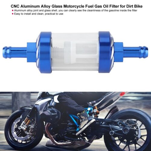 CNC Aluminum Alloy Glass Motorcycle Fuel Gas Oil Filter for Dirt Bike
