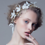 Women-Bridal-Wedding-Party-Crown-Hair-Band-White-Butterfly-Flower-Pearl-Headband thumbnail 1