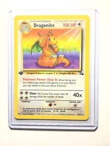 DRAGONITE-19-62-1st-Edition-Fossil-Rare-Pokemon-Card-NM