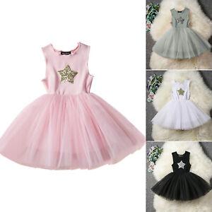 085c1b57129 Das Bild wird geladen Maedchen-Kinder-Baby-Kleider-Hochzeit-Party-Abendkleid -Prinzessin-
