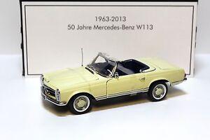 1:18 Norev Mercedes 230sl Pagode w113 * Bit 1963 * Beige New chez Premium-modelcars