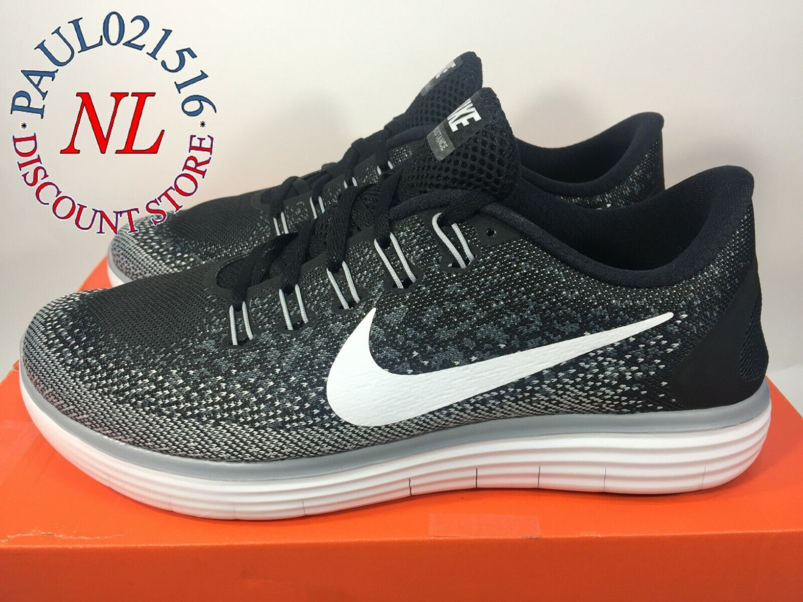 Nike Men's Free RN Distance Running shoes Style 827115-010  Size 9.5