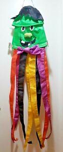 Vintage-1980-039-s-Frankenstein-Wind-Sock-Halloween-Decoration-4-feet