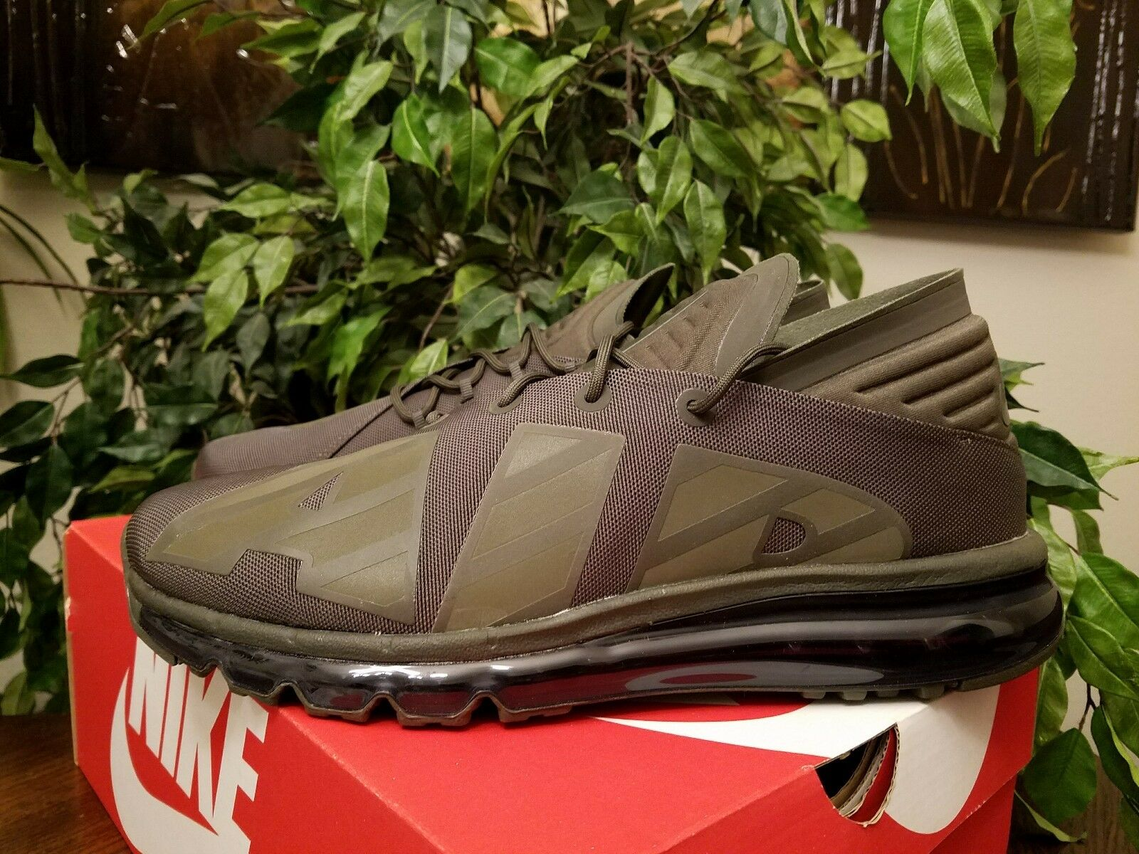 Nike Men's Air Max Flair SE Sneakers Size 11.5 Olive AA4084-300 THESPOT917