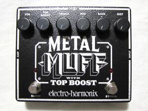 Used Electro-Harmonix EHX Metal Muff Distortion w/ Top Boost Guitar Pedal