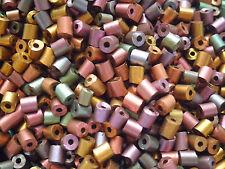 Czech cut tube metal multi color pressed irregular beads app. 4 mm pack of 20g