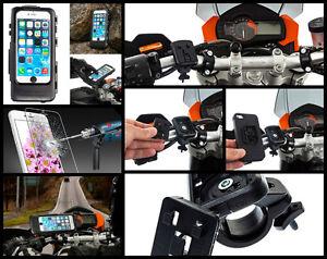 Custodia-moto-impermeabile-iphone-6-6S-7-8-Plus-pellicola-tracolla-Sgancio