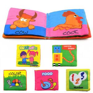 Details Sur Livre Tissu Doux Pour Bebe Enfant Age Eveil Premier Intelligence Jouet Education