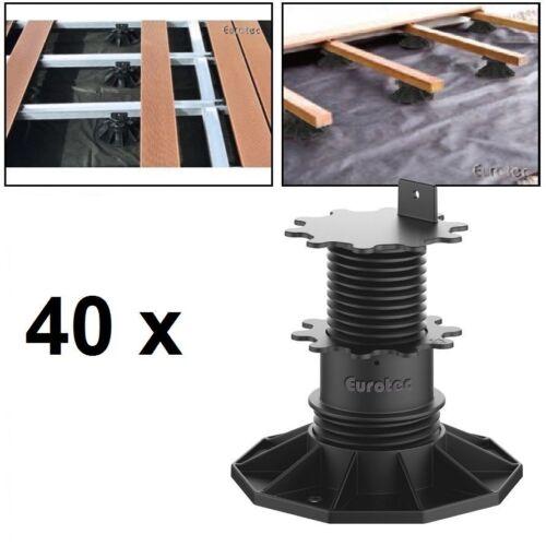 40 x Eurotec verstellfuß mettiti magazzino ECO L 6,5-13,0 cm per terrazza LEGNO WPC